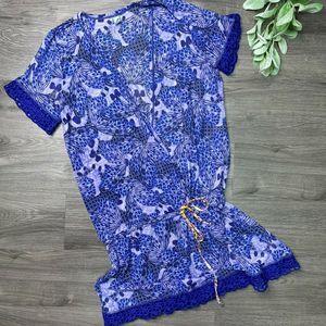 MAAJI | sz S blue swim cover dress